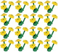 ☀️NEW LEGO 12 Flowers YELLOW with 16 STEMS (48 Pcs Little Flowers Total)
