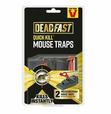 2 X DEADFAST QUICK KILL MOUSE TRAPS. BRAND NEW. IN STOCK. FAST COMBINED POSTAGE