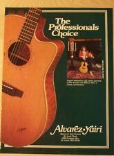 1986 PROMO Ad ALVAREZ YAIRI GUITAR YNGWIE MALMSTEEN