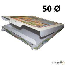 50 Pizzakartons 50 x 50 x 5cm Pizzakarton Pizzabox Karton für Pizza Box Kraft
