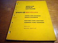 New Holland 995 Combine Parts Manual Catalog Book NH OEM #2