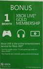 Xbox Live Gold Membership (1 Month) Xbox 360