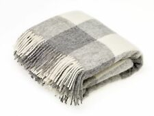 Natural Collection - Pure New Wool - Checkaboard - Gray - Throw Blanket