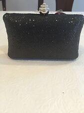 Expressions NYC Black Shimmer Evening Clutch/ Bag! Party/ Wedding!  New!