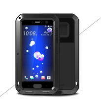 LOVE MEI Metal Glass Aluminum Armor Shockproof Powerful Case Cover For HTC U11