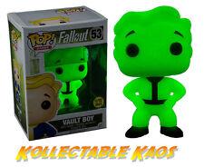 Fallout - Vault Boy Green Screen Glow in the Dark Pop! + POP PROTECTOR
