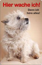 CAIRN Terrier - A4 Metall Warnschild Hundeschild SCHILD Türschild - CRT 04 T15