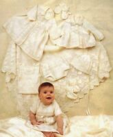 Complete Baby Layette Lovely Shawl 0-6 mths 4 Ply Vintage Knitting Pattern