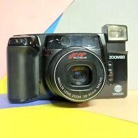 Minolta AF-ZOOM 90 35mm Zoom Camera 38-90mm macro Lens! Film Tested! Lomo Retro