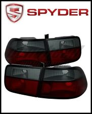 Spyder Honda Civic 96-00 2Dr Crystal Tail Lights Red Smoke