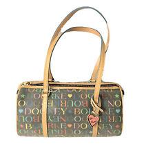 Dooney and Bourke Barrel Satchel Purse Handbag Black Logo Multicolor NWT