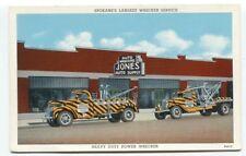 1940's Linen Jones Auto Wrecking Tow Truck Service Spokane Washington Postcard