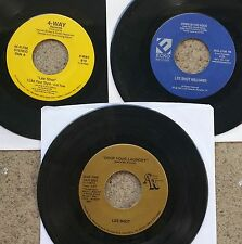 SOUL BLUES LOT: LEE SHOT WILLIAMS three 45s on Chelsea Avenue, 4-Way, and Ecko