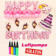 Luftballon Ballon Folienballon Geburtstag happy birthday Feier Girl Pink baby 01