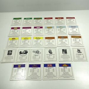 Disney Edition Monopoly Replacement Deeds 28 Property Cards Set Game Pieces 2001