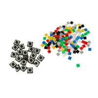 20pcs 12x12x7.3mm Tact Tactile Push Button Momentary SMD PCB Switch + Caps