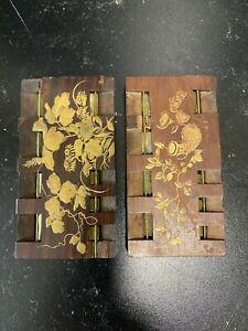 shibayama Japanese Wood gold lacquer whist Game Marker Counter Meiji period 19c