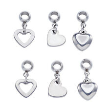 30PCS Mixed Shape 304 Stainless Steel European Large Hole Dangle Beads 21~22mm