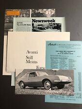 1972 Studebaker Avanti II Sales Packet Brochure RARE!! Awesome L@@K