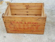 "vintage ANTIGUA CAJA de madera ""GRAN LICOR DE CALISAY arenys de mar"