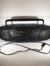 Emerson Ac2351 Dual Cassette Recorder Radio Vintage Boombox Ghettoblaster Am/Fm