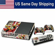 Decal Protector Cover Sticker Skin for Xbox One Set Console & Controller Ghost