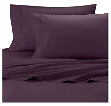 Wamsutta Cool Touch Percale 350 Thread Count Purple Twin Flat Sheet