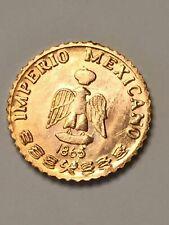 BIG LOT OF 100 BRILLIANT UNCIRCULATED 1865 MEXICAN MAXIMILIAN PESOS mini coins .