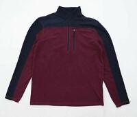 Mountain Warehouse Mens Size S Fleece Burgundy Jacket