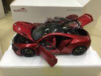 KengFai Honda NSX Red Edition 1:18 Scale Die-Cast Model Car 4 Door Open
