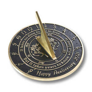"""""""Love Is"""" 2021 Wedding Anniversary Sundial Gift Idea By The Metal Foundry"""