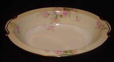 "Vintage Noritake Mystery #1 Pink Carnations Cream Rim Amherst 10 ½"" Oval Bowl"