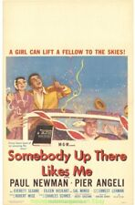 SOMEBODY UP THERE LIKES ME MOVIE POSTER 1956 PAUL NEWMAN 22x28 Window Card Size