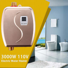 110V Portable Instant Electric Tankless Hot Water Heater Shower Kitchen Bathroom