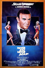 NEVER SAY NEVER AGAIN 1983 Sean Connery US 1-SHEET POSTER JAMES BOND