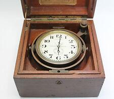 LONGINES Seconde Guerre Mondiale Marine Chronomètre dans étui d'origine en bon cond & WORKING