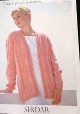 """Sirdar Ladies Knitting Pattern Long  Sleeved Cardigan DK Size 32/54"""". 5558"""