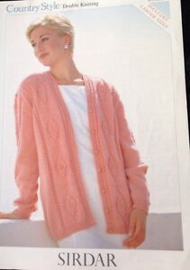 """Sirdar Ladies Knitting Pattern Long  Sleeved Cardigan DK Size 32/54"""". 5558''''''"""