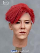 1/6 CUSTOM REPAINT REHAIR G Dragon k pop figure head sculpt enterbay korea