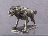 Zinnfigur. Wolf Werwolf Widerristhöhe 54mm. 1/32 TIN TOY SOLDIER