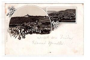 AK Thüringen Kranichfeld 1899 Stadtansichten mit  Burg
