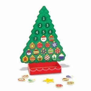 Melissa and Doug Countdown to Christmas Wooden Advent Calendar Tree #3571 NEW