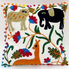 "16x16"" Uzbekistan Pillowcase Suzani Cushion Cover Hand Embroidered Home Decor C5"