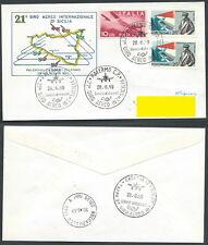 1969 ITALIA BUSTA SPECIALE GIRO AEREO DI SICILIA TIMBRO ARRIVO - SV2