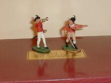 W. Britain, American Revolutionary  War, British 40th Foot Command Set,  #17351