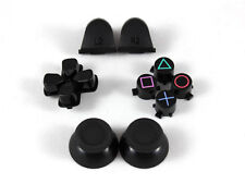 NEW Black Full Sets Replacement Parts Buttons For PlayStation 4 PS4 Controller