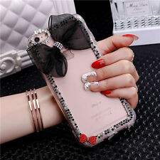 Fashion Bling Diamond Girly 3D Crystal Rhinestone Bowknot Hard Phone Case Cover