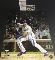 Ian Happ Chicago Cubs Autographed Signed 16x20 Photo JSA WITNESS COA A