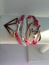 Heart/Arrow/Diamond Pink Bracelet