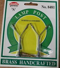 NEW! N Scale Model Power #8481 Brass Handcrafted double head Lamp Posts (2 pack)